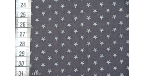 Batiste encre étoiles argent, coupon 48*140cm dans Batistes FDS par Couture et Cie