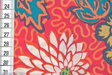 Liberty Meandering Chrysanthemums rouge