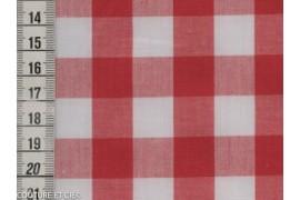 Tissu vichy rouge 16 mm