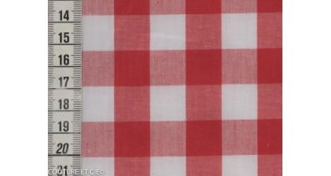 Tissu vichy rouge 16 mm dans Tissus Carreaux par Couture et Cie