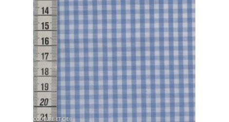 Vichy azur carreaux 3 mm dans Tissus Carreaux par Couture et Cie