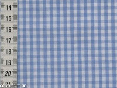 Vichy azur carreaux 3 mm