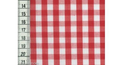 Vichy rouge 7 mm dans Tissus Carreaux par Couture et Cie
