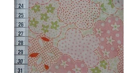 Tissu Kokka Fleurs rose et vert dans TISSUS JAPONAIS par Couture et Cie