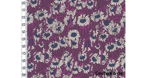 Popeline Liberty Koharu prune dans Popelines imprimées par Couture et Cie