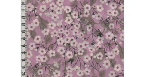 Tissu Liberty Mitsi parme dans Batistes Tana Lawn par Couture et Cie