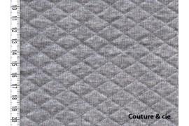Jersey matelassé gris chiné