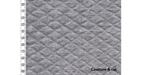 Jersey matelassé gris chiné dans FRANCE DUVAL STALLA par Couture et Cie