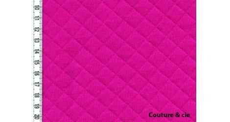 Jersey matelassé rose fushia dans FRANCE DUVAL STALLA par Couture et Cie