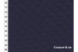 Jersey matelassé bleu marine, dans FRANCE DUVAL STALLA par Couture et Cie