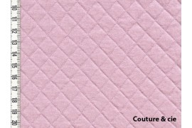 Jersey matelassé rose pâle