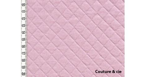 Jersey matelassé rose pâle dans FRANCE DUVAL STALLA par Couture et Cie