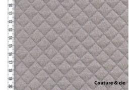 Jersey matelassé taupe, x10cm