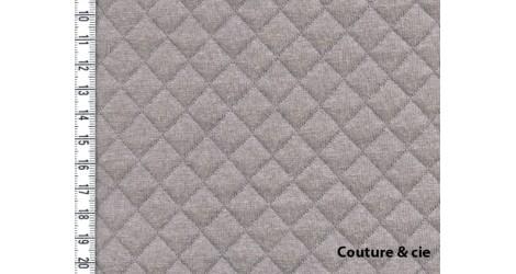 Jersey matelassé taupe, x10cm dans FRANCE DUVAL STALLA par Couture et Cie