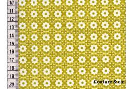 Tissu Esterelle moutarde