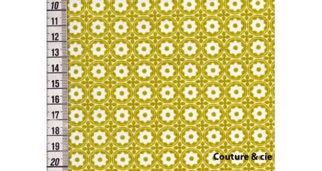 Tissu Esterelle moutarde dans LINNAMORATA par Couture et Cie