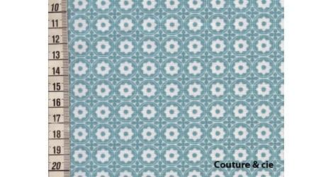 Tissu Esterelle bleu glacier dans LINNAMORATA par Couture et Cie