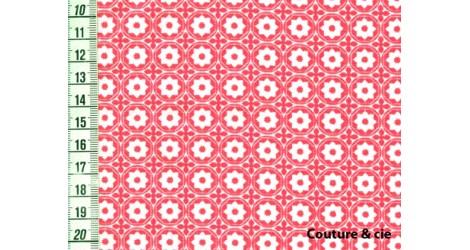 Tissu Esterelle corail dans LINNAMORATA par Couture et Cie