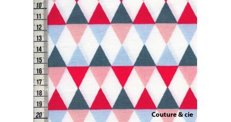 Tissu Comedia corail dans LINNAMORATA par Couture et Cie