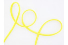Cordon soie jaune fluo
