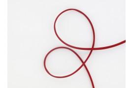 Cordon en satin de soie rouge