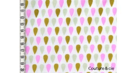 Batiste Cloud Tears moutarde, rose fluo dans LINNAMORATA par Couture et Cie