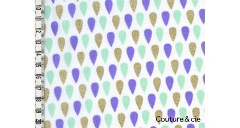 Batiste Cloud Tears glitter or, navet dans LINNAMORATA par Couture et Cie
