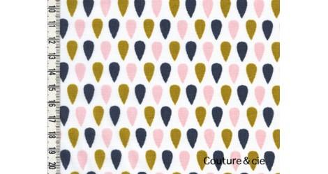 Batiste Cloud Tears moutarde, poudre, jean dans LINNAMORATA par Couture et Cie