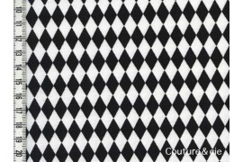 Tissu Diamonds noir