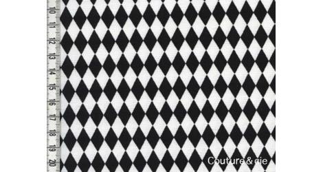 Tissu Diamonds noir dans LINNAMORATA par Couture et Cie