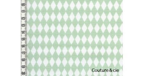 Tissu Diamonds vert d'eau dans LINNAMORATA par Couture et Cie
