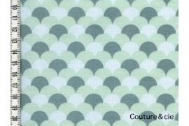 Tissu Namisca bleu gris, coupon 80*150cm