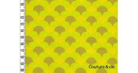 Tissu Namisca moutarde dans LINNAMORATA par Couture et Cie
