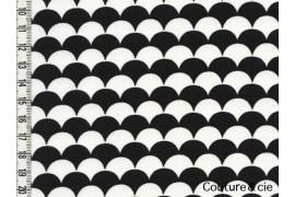 Tissu Namisca noir et blanc