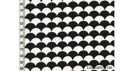 Tissu Namisca noir et blanc dans LINNAMORATA par Couture et Cie