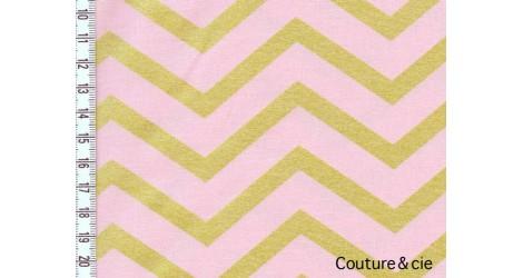 Tissu Sleek Chevron Pearlized, Blush dans MICHAEL MILLER par Couture et Cie