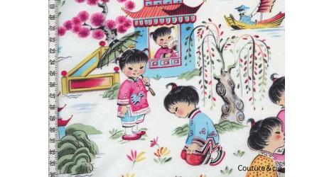 Tissu Filles chinoises, coupon 40*110cm dans MICHAEL MILLER par Couture et Cie