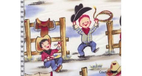 Tissu Cowboy Lil Cowpokes dans MICHAEL MILLER par Couture et Cie