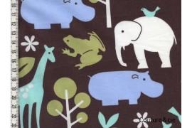 Tissu Zoology marron