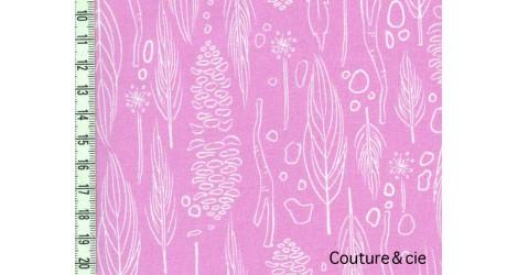Tissu Nature Walk rose dans MICHAEL MILLER par Couture et Cie