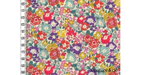 Tissu Liberty Michelle multicolore dans LIBERTY OF LONDON par Couture et Cie