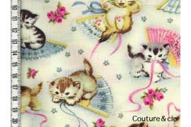 Tissu Chats Smitten Kittens