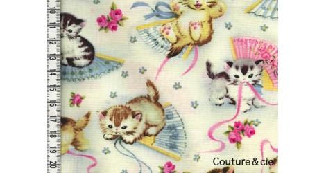 Tissu Chats Smitten Kittens dans MICHAEL MILLER par Couture et Cie