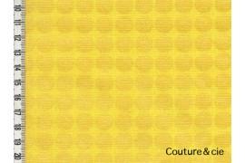 Tissu Mirror Ball Dot jaune
