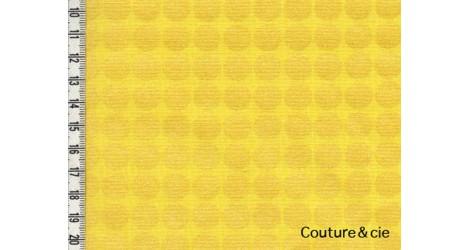 Tissu Mirror Ball Dot jaune dans MICHAEL MILLER par Couture et Cie
