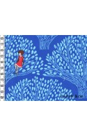 Tissu Tree Lights bleu