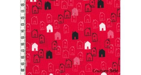 Tissu Mori Girls, Petites maisons dans DASHWOOD STUDIO par Couture et Cie