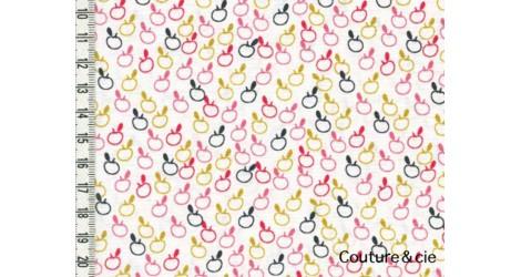 Tissu Mori Girls, Pommes dans DASHWOOD STUDIO par Couture et Cie