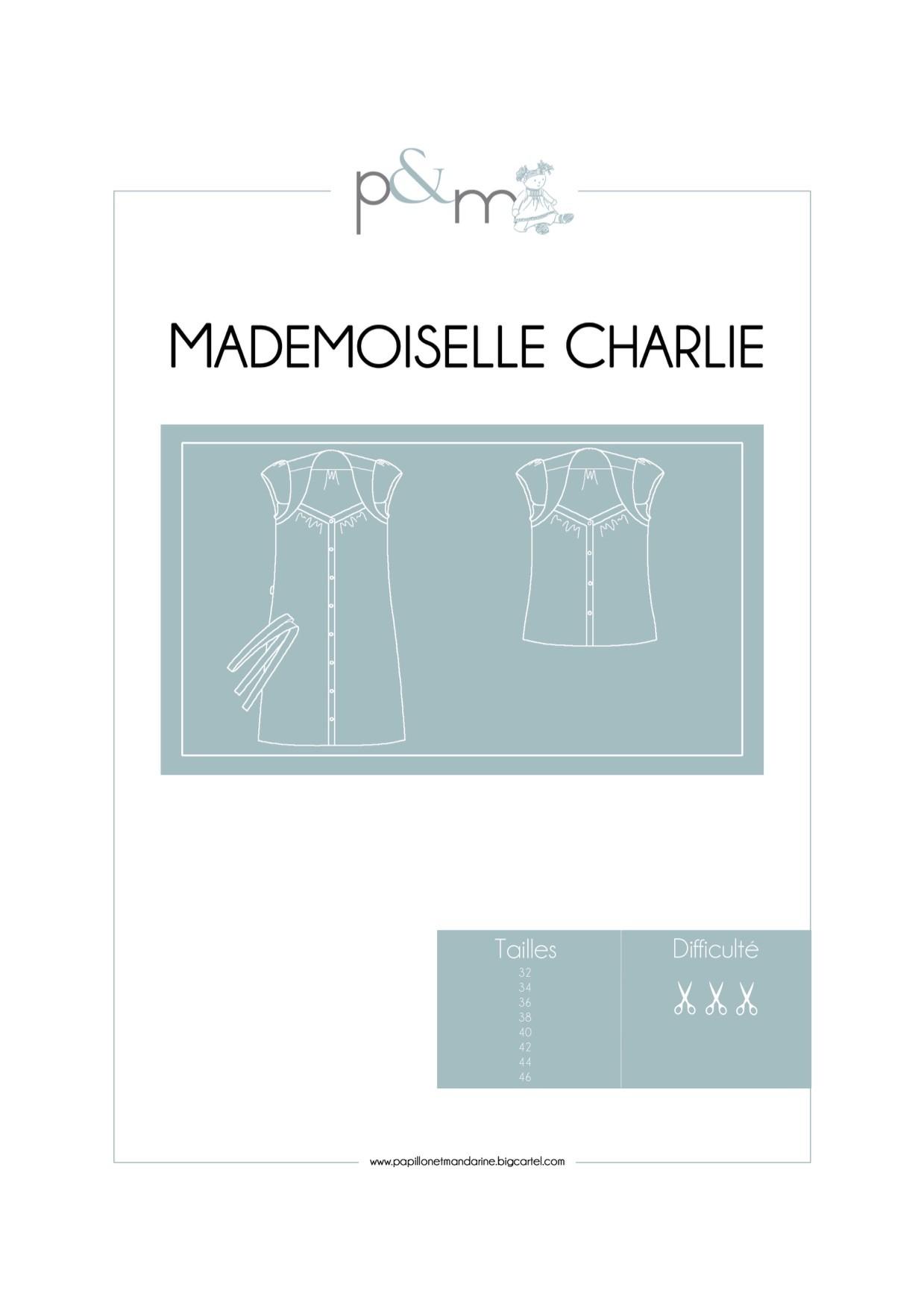 Patron Mademoiselle Charlie Papillon & Mandarine