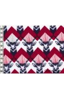 Tissu Echino Huedrawer Cerf rouge